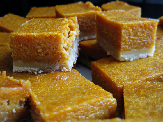 pumpkin crunch bars