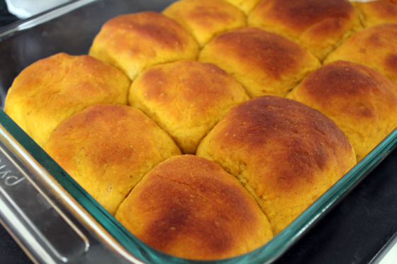 Maybe next time we can talk about these pumpkin yeast rolls. Or maybe not. We'll see.